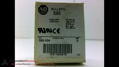 Allen Bradley 595-A34 Series A Auxiliary Contact 1No For Overload Rel.