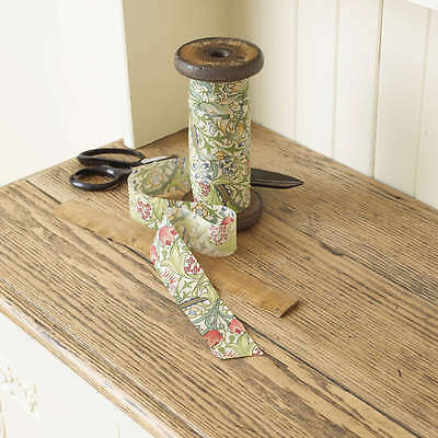 William Morris Golden Lily 37mm Flat Floral Bias Binding By The Metre.