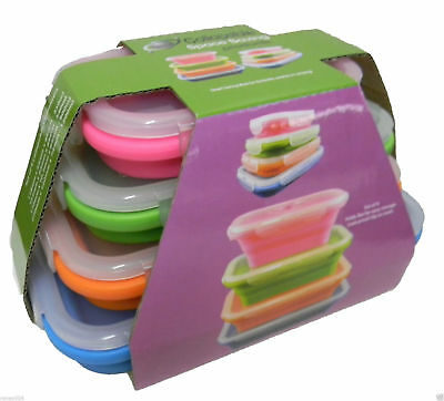 Collapsible Silicone Containers Rectangle Caravan Camping  Pop Up Space Saving B