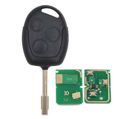 Remote Key Keyless Entry FOB 433MHZ 4D63 Chip 3 Button For Ford Uncut FO21 Blade