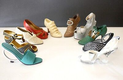 Set of 10 JUST THE RIGHT SHOE Raine Willits Miniature Collection Geometrika Pave