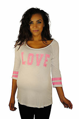 Sporting Love White Maternity Top