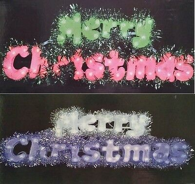 Merry Christmas 50 Flashing Led Sign Lights Blue/white, Red/green Indoor/outdoor