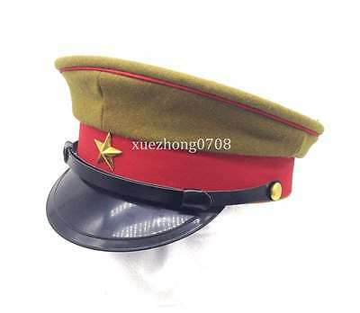 Men's WW2 Imperial Japanese Army Officer's Wool Visor Crusher Cap Hat Size M