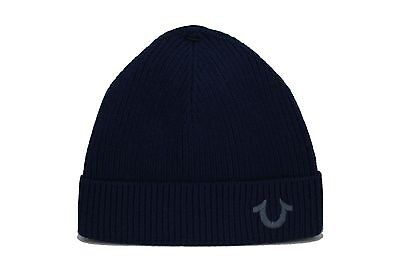 084b48f1ad1 True Religion TR1828 NAVY Cashmere Blend Watchcap Beanie Hat