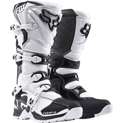 NEU Fox Racing Comp 5 Weiss Motocross Stiefel Boots Enduro Quad Pitbike OUTLET