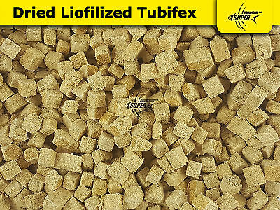 Aquarium Tropical Fish Food NATURAL FREEZE DRIED TUBIFEX High Protein Cubes