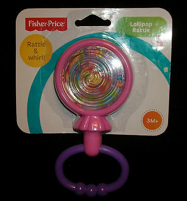 Fisher-Price Lollipop Rattle Colorful Easy Grip  HTF