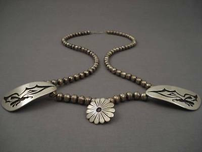 Museum Vintage Navajo Tsosie Silver Butterfly Necklace Old
