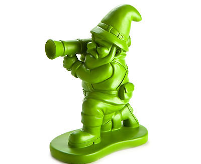 Tall Green Army Man Garden Gnome With Bazooka Fun Novelty Garden Ornament 22cm