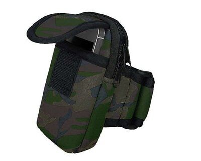 Universal Running Armband Pouch Case for Smartphone, Mobile Phone - Camouflage