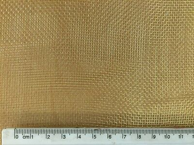 Fine Brass Woven Wire Mesh 0.5m x 3m 16 Mesh Modelling Craft Metalwork (PC:776)