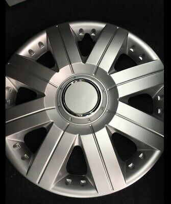 Set of 4 X 15 Inch (15'')Alloy Look Wheel Trims Cover Hub Caps Tyre Cap Silver