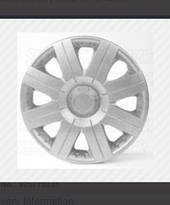 Set of 4 X 13 Inch (13'')Alloy Look Wheel Trims Cover Hub Caps Tyre Cap Silver