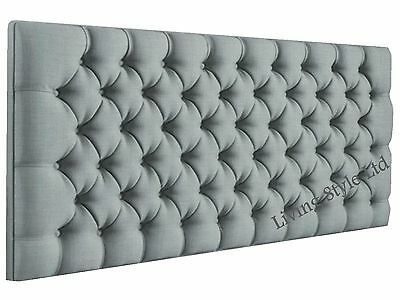 Stylish Chenille Fabric Colchester Daimontes, Headboard  26'' Height