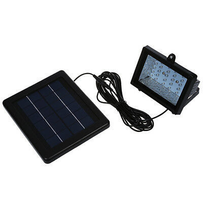 Electrical/waterproof outdoor solar power white LED flood light 30 garden WK