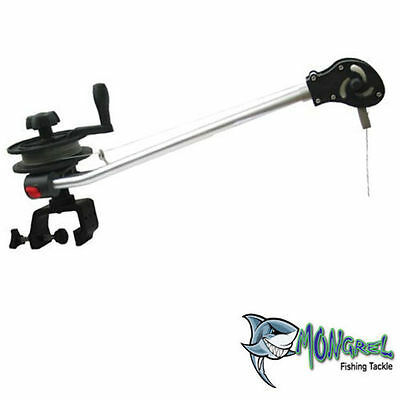 Tournament Series Manual Downrigger  With G Clamp,clip And Cable