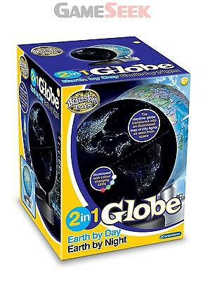 Brainstorm Toys 2 In 1 Globe Earth By Day Earth By Night - Educational Toys New