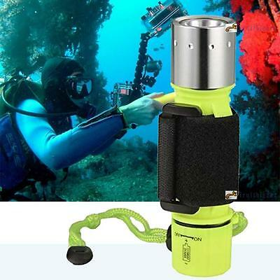 2500LM CREE T6 LED Waterproof Underwater Scuba Diving Flashlight 18650 Torch FB