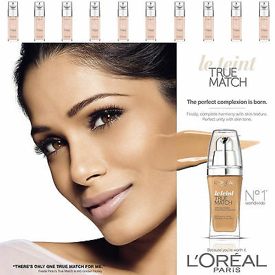 L'Oreal Paris True Match Liquid Foundation SPF17 30ml - All Shades - UK STOCK !!