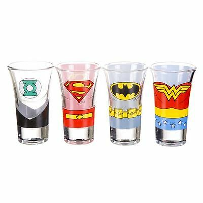 Set of 4 Justice League of America Shot Glasses