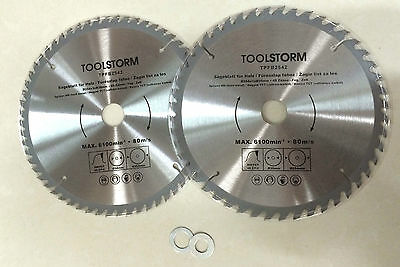**2PC Circular Saw Blades 254mm TCT 48T,60Teeth 30MM BORE With BUSH 25.4/20/16