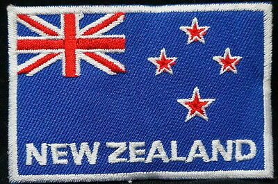 "NEW ZEALAND FLAG EMBLEM PATCH SEW ON EASY TO USE 2""x3"""