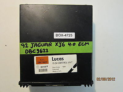 1992 JAGUAR XJ6 4.0L ECU/ECM #DBC9622 *see item description*