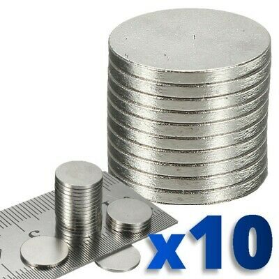 10 x Rare Magnet Round Disc Magnets Earth Neodymium Craft 10.1mm N50 Grade