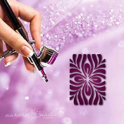 Airbrush sticky templates - MU045 - Nailart Ornament Floral fullcover 20pcs