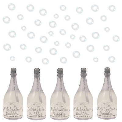 1 12 24 48 72 96 Silver Champagne Bottle Wedding Bubbles Wand Table Decoration
