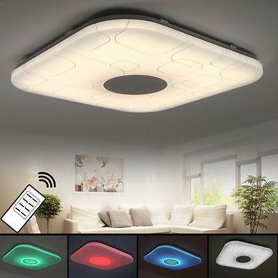 15w rgb led decken leuchte mp3 bluetooth b ro lampe lautsprecher fernbedienung chf. Black Bedroom Furniture Sets. Home Design Ideas