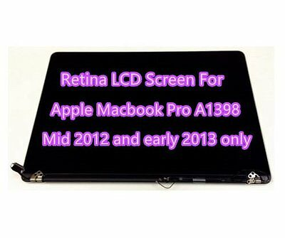 """2012 MacBook Pro 15"""" A1398 Retina Display Full LCD Screen Assembly ONLY"""