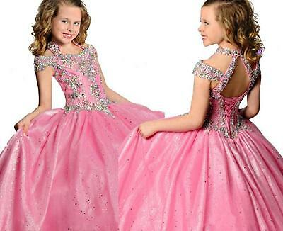 Flower Girl Dress Pageant Bridesmaid Prom Party Ball Gown All season 6-8-10-12