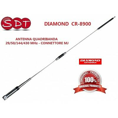 "DIAMOND ""ORIGINALE"" CR-8900 ANTENNA QUADRIBANDA 29/50/144/430 MHz - CONNETTORE M"