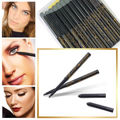 12 x BLACK EYELINER TWIST UP PENCILS PENS WATERPROOF WHOLESALE JOB LOT UK