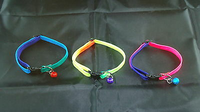 Cat Collar Bright Colours - With Bell - One Size - Mutli Listing