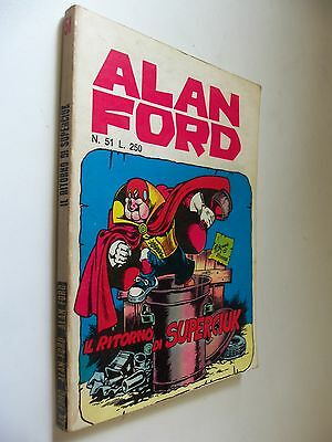 Alan Ford Originale Prima Edizione (No Resa) N° 51  Editoriale Corno
