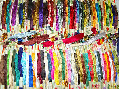 100 Art Silk/Rayon Stranded Skeins Embroidery Thread - Great Quality & Value