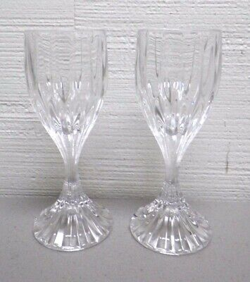 "Beautiful Park Lane Mikasa Set Of 2 Cordial Crystal Glasses 5"" Tall"