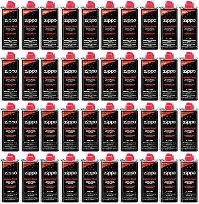 40 Cans Zippo Premium Lighter Fluid 4 fl oz. (118ml) For Zippo Lighters