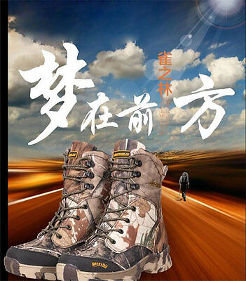 Tactical camouflage combat boot shoes Hunting Footwear f winter autumn bowhunt