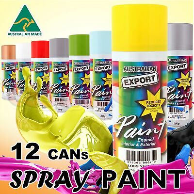 12 pcs Australian Export Spray Paint Cans 250gm Fast Shipping