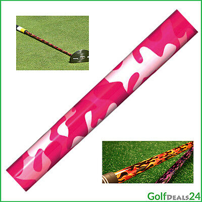 Pimp and Protect your Shaft! - SHAFT SKINZ Camo Pink (Inhalt: 4 Folien)