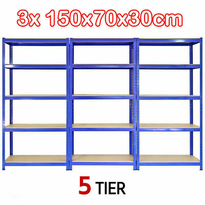 3 Garage Heavy Duty Storag Steel Boltless Shelving Racking Warehouse Unit 5 Tier