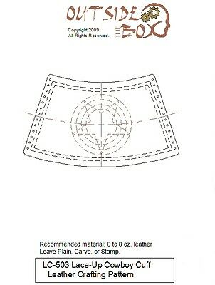 3 Different Cowboy Cuff Leather Crafting Patterns by OTB Patterns