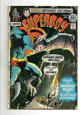 Superboy  Vol 1 No 178 Oct 1971 (VG) DC Comics, Bronze Age (1970 - 1979)