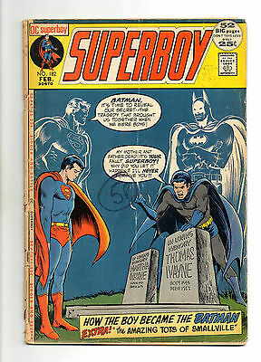 Superboy  Vol 1 No 182 Feb 1972 (VG) DC Comics, Bronze Age (1970 - 1979)