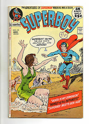 Superboy  Vol 1 No 179 Nov 1971 (VG+ to FN-) DC Comics, Bronze Age (1970 - 1979)