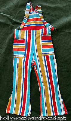 Stripe overall 70s bell bottom clown 5 6 year old candy disco vintage onesie